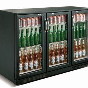 Backbar - Barkøleskab - Sort - 3 låger - 298 liter