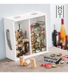 Dekorativ æske til kapsler og vinpropper
