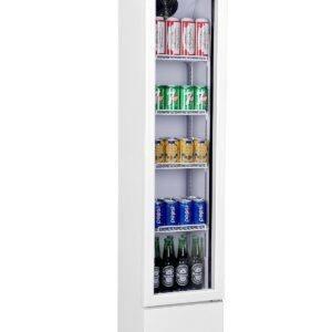 Displaykøleskab - Hvidt - Smalt - 105 liter