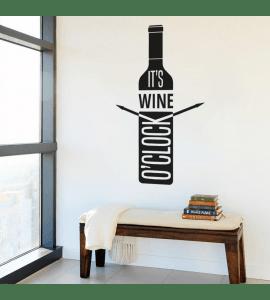 Wine o'clock-wallsticker