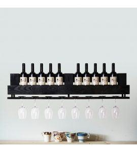 Vinobarto odin - sort vinhylde til vin og glas - stor model (sort)