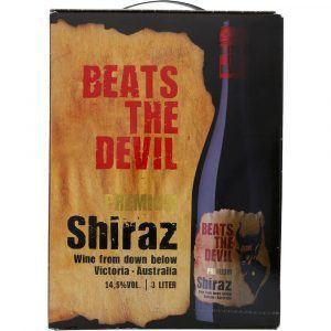 Beats the Devil Shiraz Rødvin 14,5% 3 ltr.