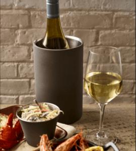 Elegant vinkøler i rustfrit stål