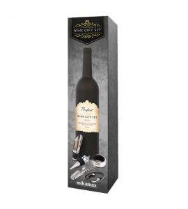 Vingavesæt designet som vinflaske