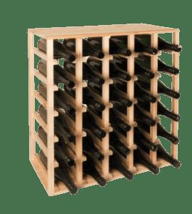 Piazza vinreol - 30 flasker - fyrretræ